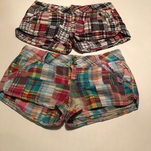 Lot Of 2  Grane  Jeans Plaid Chino Shorts Size 3